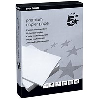 5 Star A4 Premium Multifunctional Paper, White, 80gsm, Ream (500 Sheets)