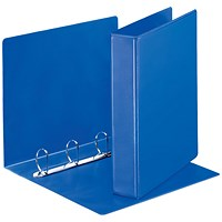 Esselte Presentation Binder, A4, 4 D-Ring, 40mm Capacity, Blue, Pack of 10