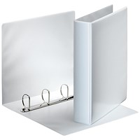 Esselte Presentation Binder, A4, 4 D-Ring, 40mm Capacity, White, Pack of 10