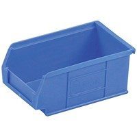 Heavy Duty Polypropylene Storage Bin, W165xD100xH75mm, Blue, Pack of 20