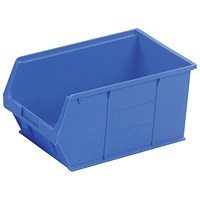 Heavy Duty Polypropylene Storage Bin, W350xD205xH182mm, Blue, Pack of 10