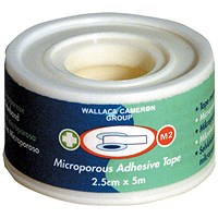 Wallace Cameron Micropore Tape Securing Dressing Pads - W25mmxL5m