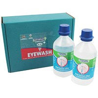 Wallace Cameron Eyewash, Sterile Water Bottles for Eye Care Dispensers, 500ml, Pack of 2