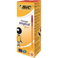 Bic Orange Ball Pen, Red, Pack of 20