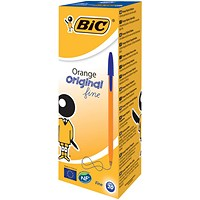 Bic Orange Ball Pen, Blue, Pack of 20