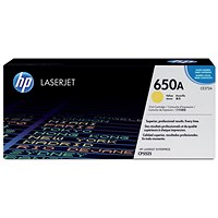 HP 650A Yellow Laser Toner Cartridge