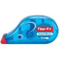 Tipp-Ex Pocket Mouse Correction Tape Roller, 4.2mmx10m, Pack of 10