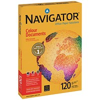 Navigator A3 Colour Documents Paper, White, 120gsm, Ream (500 Sheets)
