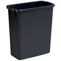 Durable Durabin Slim Bin, 60 Litre, Black