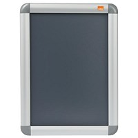 Nobo Snap Frame Moulded Aluminium Front-opening - A4