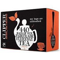 Clipper Fairtrade Tea Bags - Pack of 440