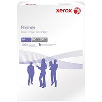 Xerox A4 Premier Multifunctional Copier Paper, White, 160gsm, 250 Sheets