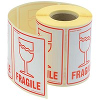 """Fragile"" Parcel Labels - 500 Labels"