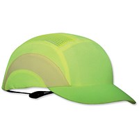 JSP Hard Cap A1 Plus, Ventilated & Adjustable, Short Peak, Yellow