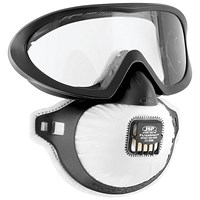 JSP FilterSpec Pro FMP2 Safety Goggle Mask, Anti-Mist Lens, Black