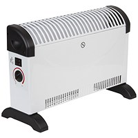 Igenix Convector Heater Electric 2 Heat Settings 2kW White and Black