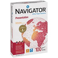 Navigator A3 High Quality Presentation Paper, White, 100gsm, Ream (500 Sheets)