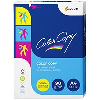 Color Copy A4 Super Smooth Copier Premium Paper, White, 90gsm, Ream (500 Sheets)