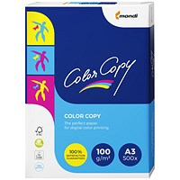 Color Copy A3 Premium Super Smooth Copier Paper, White, 100gsm, Ream (500 Sheets)