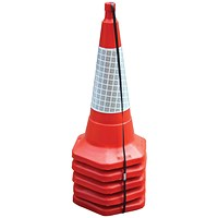 Safety Cones, Standard, H750mm, Sealbrite Sleeve, Pack of 5