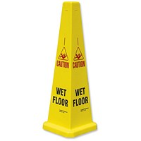 JSP Collector Caution Cone for Wet Floors Stackable Height 900mm