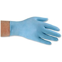 Nitrile Food Preparation Gloves, Powder-free, Large, Blue, 50 Pairs