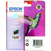 Epson T0805 Light Cyan Claria Inkjet Cartridge