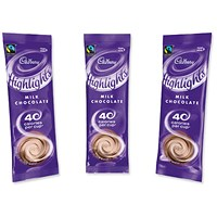 Cadbury Chocolate Highlights, Low Calorie Fairtrade Hot Chocolate Powder, 30 Sachets