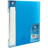 Concord Vibrant Ring Binder, A4, 2 O-Ring, 15mm Capacity, Blue, Pack of 10
