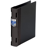 Guildhall GLX Ergogrip Binder, A4, 4x 2 Prong, 40mm Capacity, Black, Pack of 2