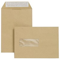 Basildon Bond C5 Envelopes / Window / Manilla / Peel & Seal / 90gsm / Pack of 500