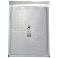 Jiffy Airkraft No.7 Bubble-lined Postal Bags, 340x445mm, Peel & Seal, White, Pack of 50