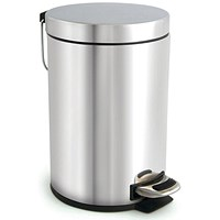 Pedal Bin, Removable Inner Bucket, 3 Litre, Stainless Steel
