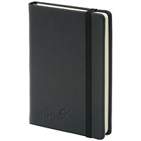 Silvine Executive Soft Feel Pocket Notebook, 143x90mm, Ruled with Marker, 160 Pages, Black