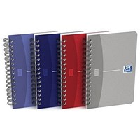 Oxford Office Soft Cover Wirebound Notebook, A6, 180 Pages, Random Colour, Pack of 10