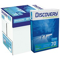 Discovery A4 Everyday Paper, White, 70gsm, Box (5 x 500 Sheets)