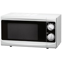 5 Star Manual Microwave with Defrost and 6 Power Levels, 800W, 20 Litre, White