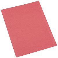 5 Star A4 Square Cut Folders, 250gsm, Red, Pack of 100