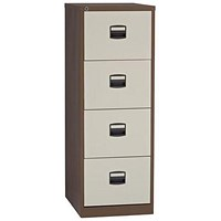 Trexus Foolscap Filing Cabinet / 4-Drawer / Brown & Cream