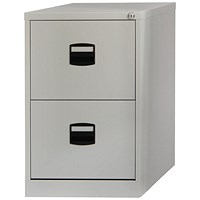 Trexus Foolscap Filing Cabinet, 2-Drawer, Grey