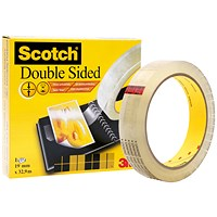 Scotch Permanent Long-life Double-sided Tape, 19mm x 32.9m, Clear