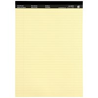 5 Star Executive Pad, A4, Ruled & Perforated Yellow Paper, 50 Sheets, Pack of 10