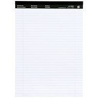 5 Star Executive Pad, A4, Ruled & Perforated White Paper, 50 Sheets, Pack of 10