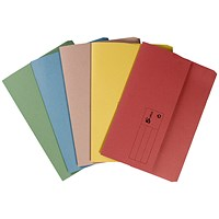 5 Star Document Wallets Half Flap, 285gsm, Foolscap, Assorted, Pack of 50