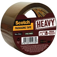 Scotch Packaging Tape Heavy 50mmx50m Brown HV.5050.S.B