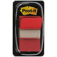 Post-it Index Flags, Red, Pack of 12 x 50