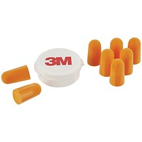 3M Ear Plugs 1100 with Storage Box 1 Kit with 4 Pairs