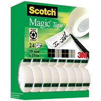 Scotch Magic Tape 810 Tower Pack 19mm x 33m (Pack of 24)