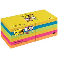 Post-it Super Sticky 76x76mm Rio (Pack of 12) 654-12SS-RIO