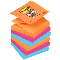 Post-it Super Sticky Z-Notes, 76x76mm, Bangkok, Pack of 6 x 90 Notes